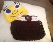 SpongeBob Diaper Cover and Hat Set