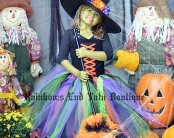 Little Witch Tutu Dress  - girls size 2t - 6