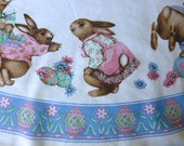 Vintage Wilton Court Easter Tablecloth