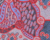 Australian Indigenous Fabric: Women Dreaming in Blue