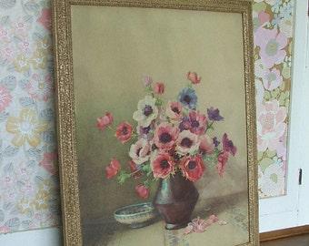 Pretty Vintage Floral Anenome Picture