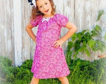 Cowgirl Bandana Peasant Dress - Custom Fabrics - 12 months to 5**