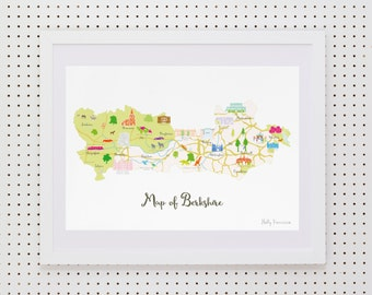 Map of Berkshire Art Print