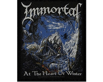 "Album Art ""Immortal: At The Heart Of Winter"" Patch Metal Band Sew-On Applique"