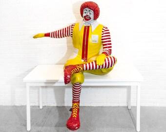Rare Ronald McDonald Seated Statue