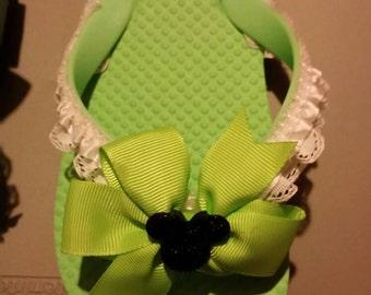 Girls fancy flip flops