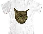 CAT with Green Eyes Kitten Animals T-shirt Women Men Children Small, Medium, Large, XL