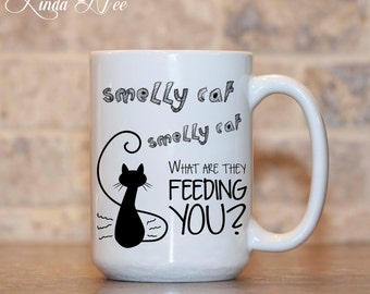 FRIENDS TV Show, Best Friend Gift, Smelly Cat Smelly Cat, Phoebe Buffay, Friends Tv Series Gift, Gift for Her Friends Quotes Coffee Mug MPH5