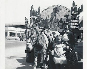 Old Mexico 1952 - Vintage 1950s Tijuana Zonkey Kodak Photograph
