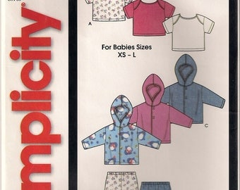 Simplicity Sewing Pattern 7054 - Babies' Knit Jacket, Pants, and Knit Top (XS - L)