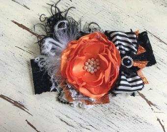 Baby Girl Headband -Halloween Headband- Flower Girl Headband- Baby Headband- Girls Headband