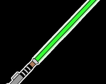 Star Wars Lightsaber SVG Cut for Cricut and Silhouette-eps-dxf also included! Free Yoda outline.