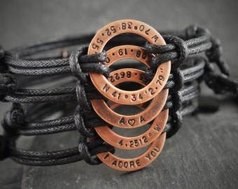Personalised bracelet, bracelet for boyfriend, bracelet, boyfriend gift, birthday gift, anniversary, husband gift, mens, mens personalized,