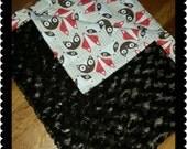 Baby Blanket Fox Baby Blanket Minky Blanket stroller blanket carseat blanket Ready to Ship