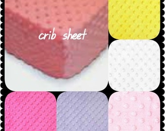 Crib Sheet Minky 19 colors Baby Minky Sheet Crib