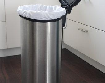 XL 13 GALLON CAPACITY, Medium 8 gallon, Small 3 gallon, cloth diaper pail liner, waterproof liner, reusable trash bag
