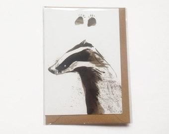 Badger Paws Card