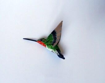 hummingbird art paper machè bird sculpture ornament birds