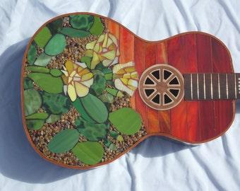 SONORAN SUNSET Mosaic Guitar