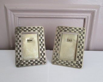 2 vintage french ART DECO frames, Metal frame, France, 1930, Antique home decor, Cadre ancien