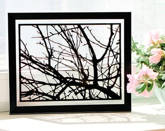 Tree Branches, Modern Art, 10 Year Anniversary Gift, Nature Art, Grandparent Gifts, Housewarming Gift, First Home Gift, Wedding Gift Ideas
