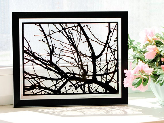 Tree Branches - Handmade Paper Cut Home Decor Gift - UNFRAMED