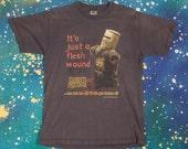MONTY PYTHON Holy Grail Flesh Wound T-Shirt Size M