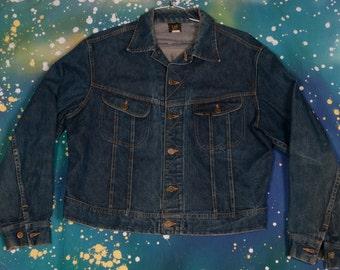 LEE Denim Jacket 101-J Men's Size 46R
