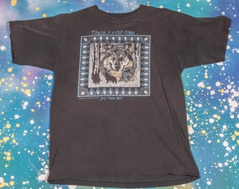 Gray TIMBER WOLF Men's T-Shirt Size M