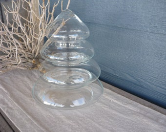 Vintage Apothecary Jar, Tiered Stackable Glass Jar, Display Jar, Cottage Decor