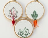 Hand Embroidered Hoop Set