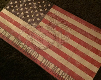 Personalized Marine Corps Flag