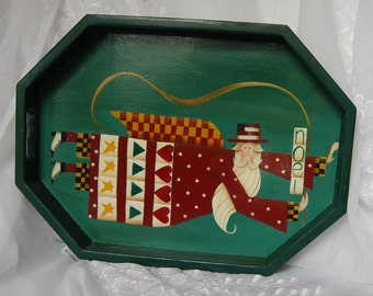 Wooden Holiday Tray