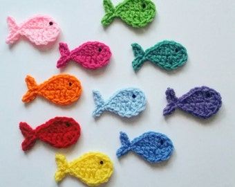 """1pc 2.5""""  Crochet FISH Applique"""