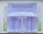 Lavender/Purple Glass Fused Dish Set
