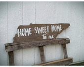 Home sweet home to me Rustic UT Vols Tennessee Tri-star cutout