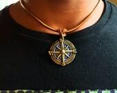 Valentines Day Gift, Man Jewellry, Men Necklace, Boyfriend Gift, Man Jewelry, Long Distance Relationship, Boyfriend Gift, Compass Necklace