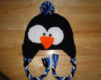 Penguin Earflap Hat - Child (3-10 yrs)