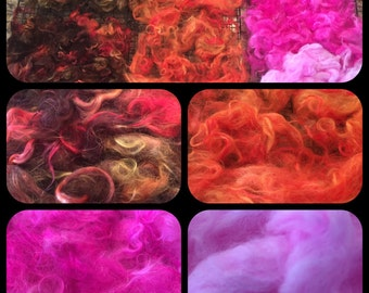 Hand Dyed Mohair
