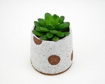 Rustic Pottery Planter - Stoneware Planter - Speckled Planter - Ceramic Planter