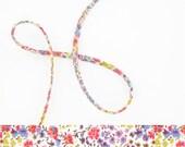 1 yard - Liberty of London Tana Lawn fabric, Spaghetti cord - Print: Phoebe P