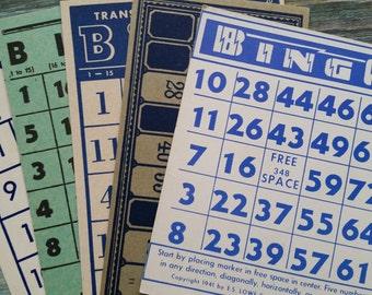 Rare Vintage Blue Bingo and Lotto Card Collection No.2