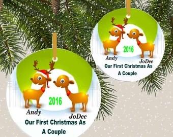 ornament, suncatcher,couples 1st Christmas ornament, family ornament, 1st christmas ornament, personalized ornament, custom ornament