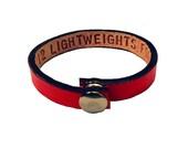 Double Sided Message Leather Bracelet, inside & outside message bracelet