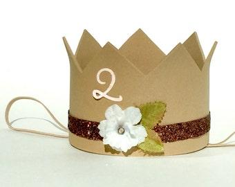 1st Birthday Girl Crown // 2nd Birthday Girls Hat // Girls Birthday Hat // Mini Crown // Dress Up Crown