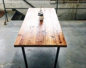 FOR TATE- Industrial Modern Hickory Table
