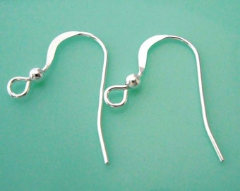 Bright Sterling Silver (20) French Ear-wires (10 sets) Findings