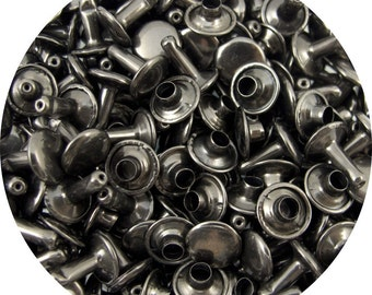 Gunmetal Large Double Capped Rivets - 50 Pack #407-137503