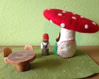 Felted Toadstool
