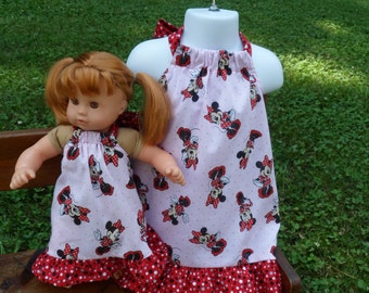 Minnie Mouse halter sundress Dolly or me